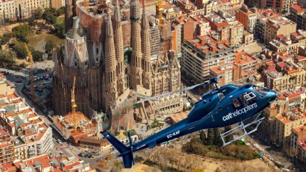 полет на вертолете над Барселоной